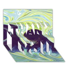 Abstract Ocean Waves THANK YOU 3D Greeting Card (7x5)