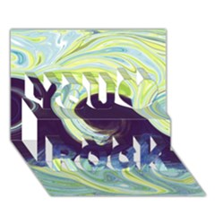 Abstract Ocean Waves You Rock 3D Greeting Card (7x5)