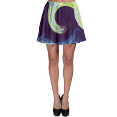 Abstract Ocean Waves Skater Skirts