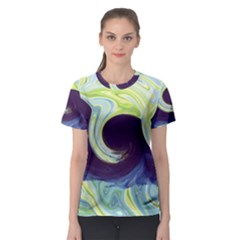 Abstract Ocean Waves Women s Sport Mesh Tees