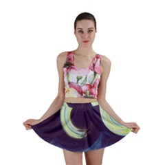 Abstract Ocean Waves Mini Skirts