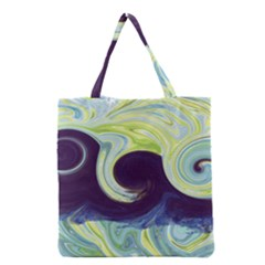 Abstract Ocean Waves Grocery Tote Bags
