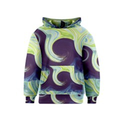 Abstract Ocean Waves Kid s Pullover Hoodies