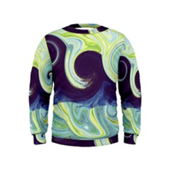 Abstract Ocean Waves Boys  Sweatshirts