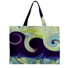 Abstract Ocean Waves Zipper Tiny Tote Bags
