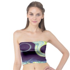 Abstract Ocean Waves Women s Tube Tops