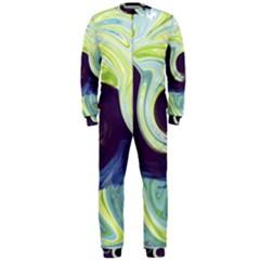 Abstract Ocean Waves Onepiece Jumpsuit (men)