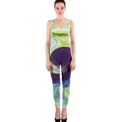 Abstract Ocean Waves OnePiece Catsuits