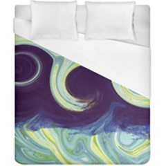 Abstract Ocean Waves Duvet Cover Single Side (double Size)