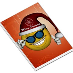 Funny Christmas Smiley With Sunglasses Large Memo Pads