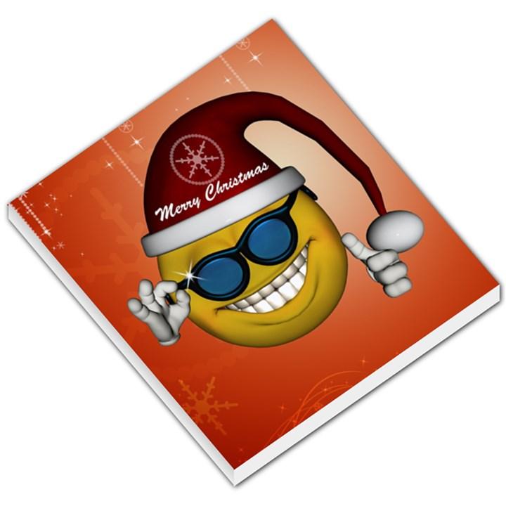 Funny Christmas Smiley With Sunglasses Small Memo Pads