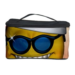 Funny Christmas Smiley With Sunglasses Cosmetic Storage Cases