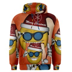 Funny Christmas Smiley With Sunglasses Men s Pullover Hoodies