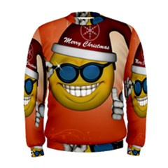 Funny Christmas Smiley With Sunglasses Men s Sweatshirts