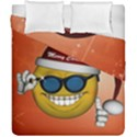 Funny Christmas Smiley With Sunglasses Duvet Cover (Double Size) View1