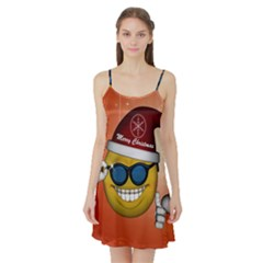 Funny Christmas Smiley With Sunglasses Satin Night Slip