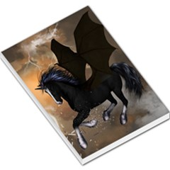 Awesome Dark Unicorn With Clouds Large Memo Pads