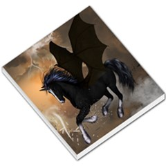 Awesome Dark Unicorn With Clouds Small Memo Pads