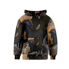 Awesome Dark Unicorn With Clouds Kid s Pullover Hoodies