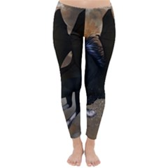 Awesome Dark Unicorn With Clouds Winter Leggings