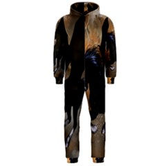 Awesome Dark Unicorn With Clouds Hooded Jumpsuit (Men)