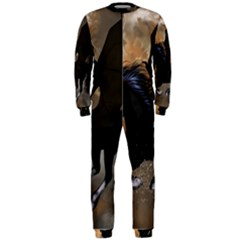 Awesome Dark Unicorn With Clouds OnePiece Jumpsuit (Men)
