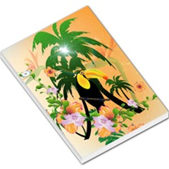 Cute Toucan With Palm And Flowers Large Memo Pads