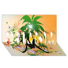 Cute Toucan With Palm And Flowers #1 MOM 3D Greeting Cards (8x4)