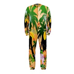 Cute Toucan With Palm And Flowers OnePiece Jumpsuit (Kids)