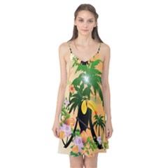 Cute Toucan With Palm And Flowers Camis Nightgown