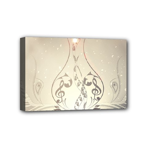 Music, Piano With Clef On Soft Background Mini Canvas 6  x 4