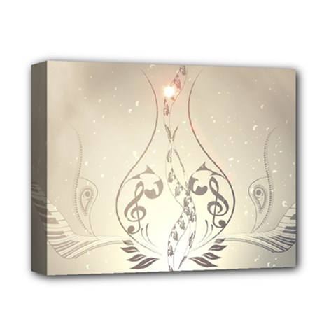 Music, Piano With Clef On Soft Background Deluxe Canvas 14  X 11