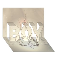 Music, Piano With Clef On Soft Background BOY 3D Greeting Card (7x5)