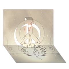 Music, Piano With Clef On Soft Background Peace Sign 3d Greeting Card (7x5)