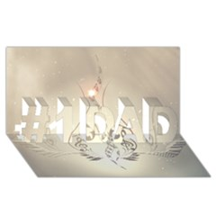 Music, Piano With Clef On Soft Background #1 Dad 3d Greeting Card (8x4)