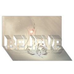 Music, Piano With Clef On Soft Background Believe 3d Greeting Card (8x4)