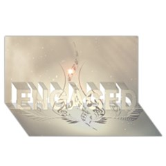 Music, Piano With Clef On Soft Background ENGAGED 3D Greeting Card (8x4)