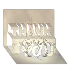 Music, Piano With Clef On Soft Background Thank You 3d Greeting Card (7x5)
