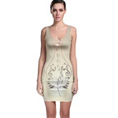 Music, Piano With Clef On Soft Background Bodycon Dresses