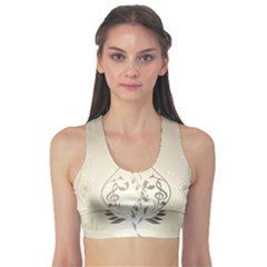 Music, Piano With Clef On Soft Background Sports Bra