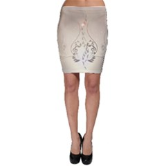 Music, Piano With Clef On Soft Background Bodycon Skirts