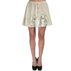 Music, Piano With Clef On Soft Background Skater Skirts
