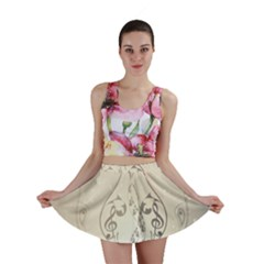 Music, Piano With Clef On Soft Background Mini Skirts