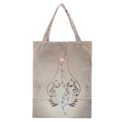 Music, Piano With Clef On Soft Background Classic Tote Bags