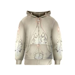 Music, Piano With Clef On Soft Background Kids Zipper Hoodies