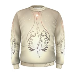 Music, Piano With Clef On Soft Background Men s Sweatshirts