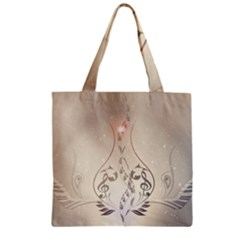 Music, Piano With Clef On Soft Background Zipper Grocery Tote Bags