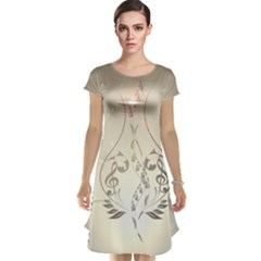 Music, Piano With Clef On Soft Background Cap Sleeve Nightdresses