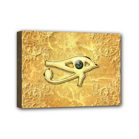 The All Seeing Eye With Eye Made Of Diamond Mini Canvas 7  X 5