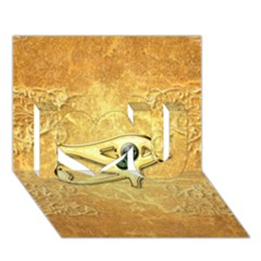 The All Seeing Eye With Eye Made Of Diamond I Love You 3d Greeting Card (7x5)